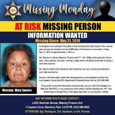 Missing Monday Mary Spears