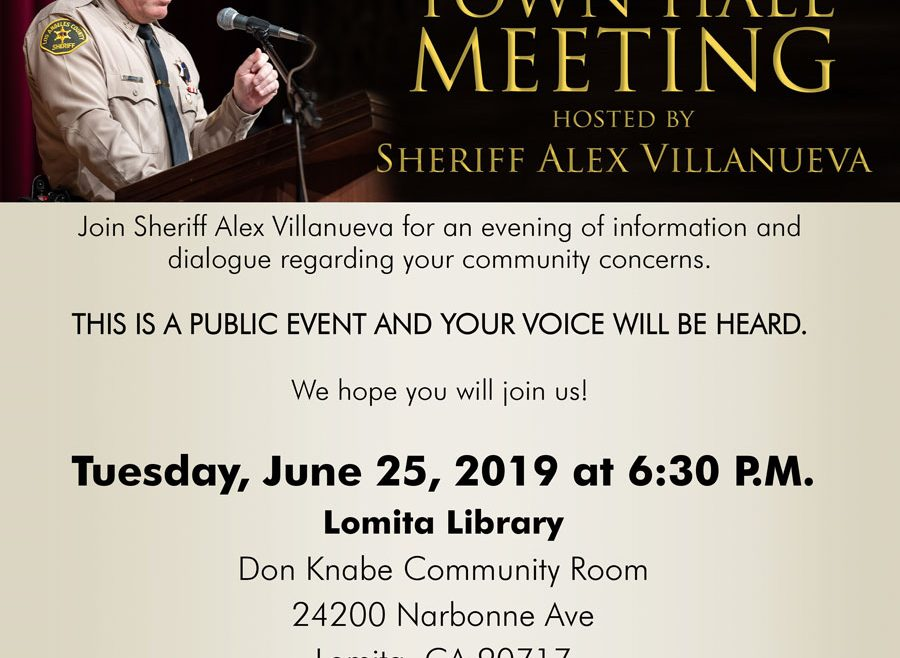 Sheriff Villanueva Town hall meeting
