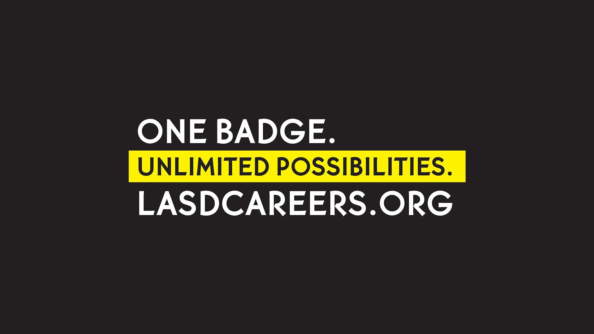 One Badge Unlimited Possiblities