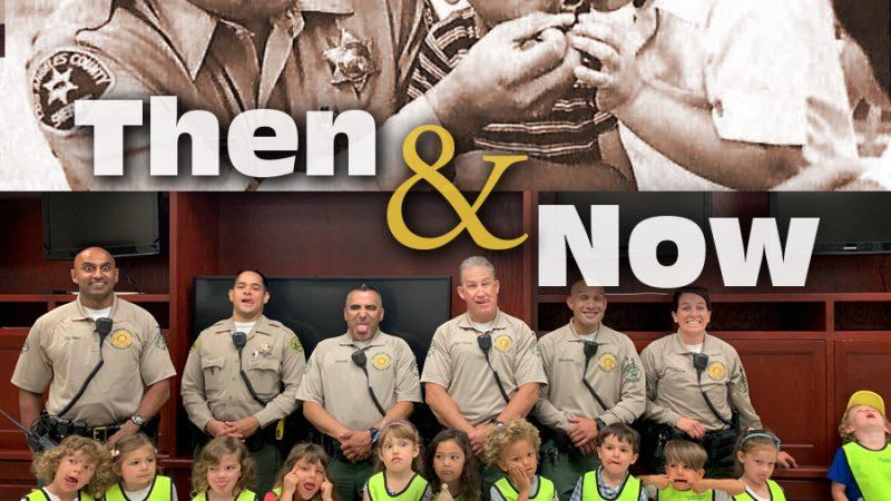 Vintage image of Deputy and kids
