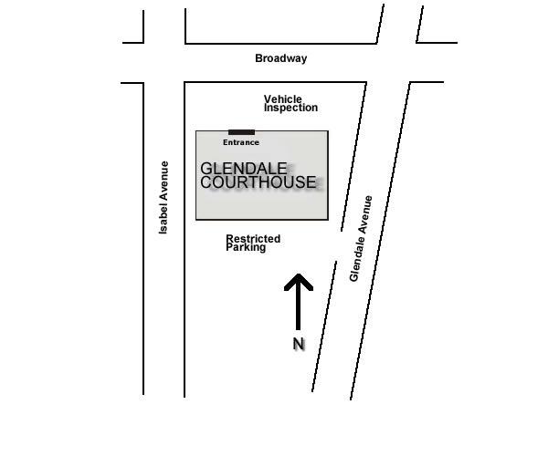 Restricted Parking off of Glendale Avenue.