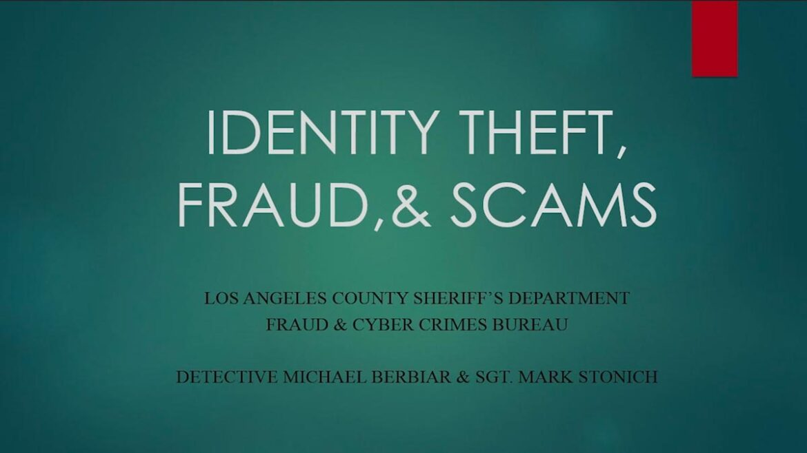Identity Theft, Fraud & scams.