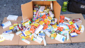 Image of fake pharmaceuticals confiscated by LASD.